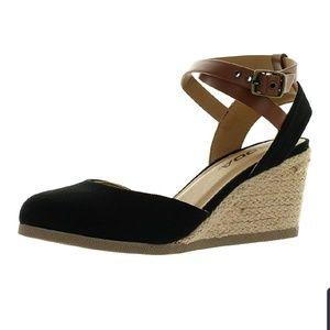 Soda Women's Closed Toe Espadrille Wedge Sandals